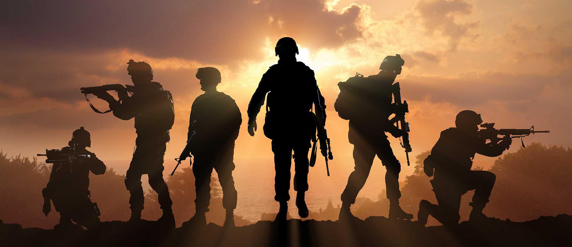 轮廓的士兵