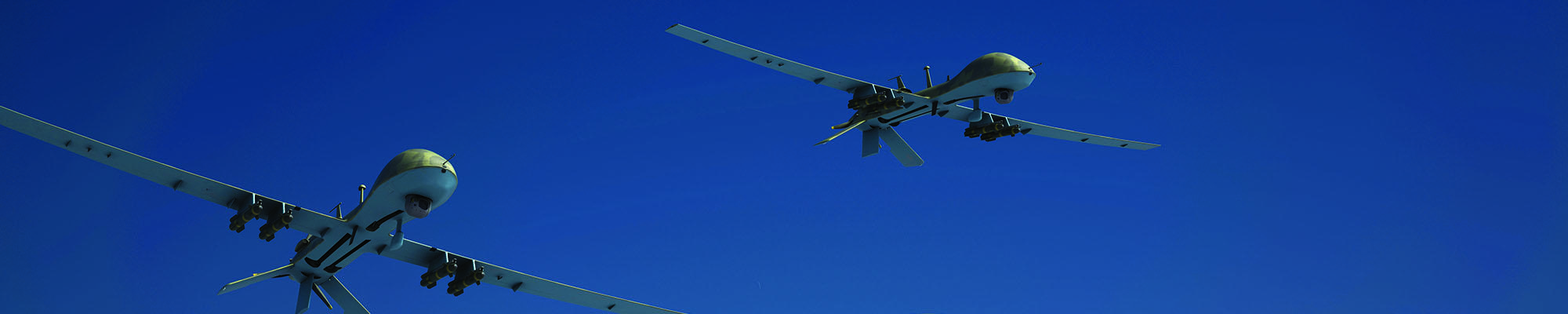 横幅显示两架无人机